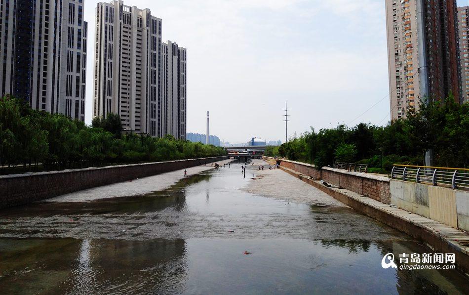 李村河君峰路至峰山路段竣工 变身'水印绿廊'